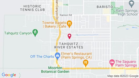Santiago Resort - Palm Springs Premier Gay Men's Resort Map
