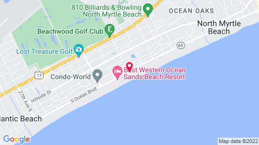 Ocean Edge Motel Map