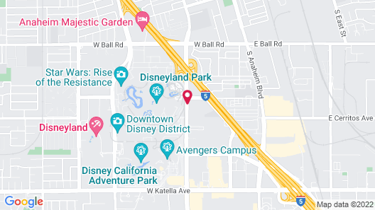 Courtyard by Marriott Anaheim Theme Park Entrance Map