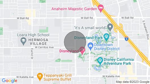 Mrs Mouse Vacation Rentals 🎢 Auf der anderen Straßenseite von Disneyland Map