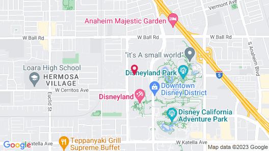 Disneyland Hotel Map