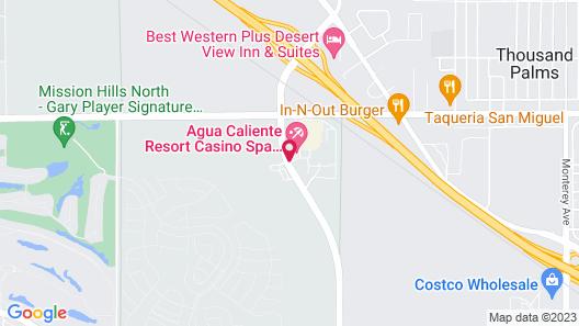 Agua Caliente Resort Casino Spa Rancho Mirage Map