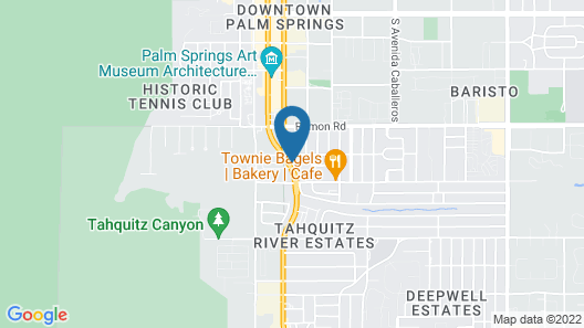 Motel 6 Palm Springs, CA - Downtown Map