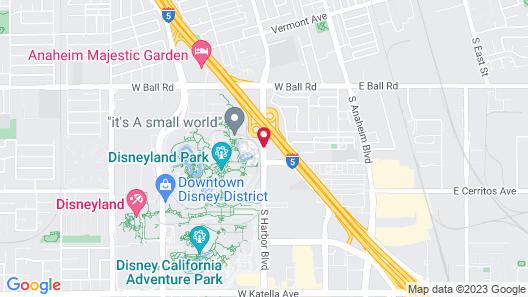 Howard Johnson by Wyndham Anaheim Hotel & Water Playground Map