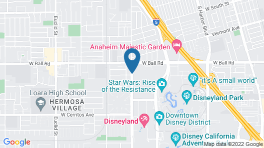 Holiday Inn Hotel & Suites Anaheim Map
