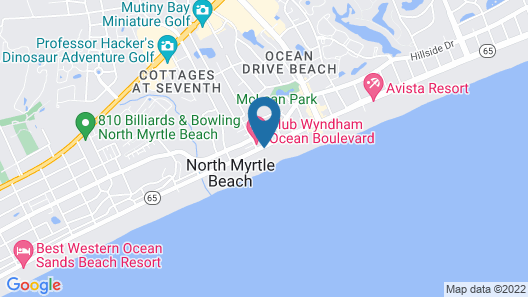 Club Wyndham Ocean Boulevard Map
