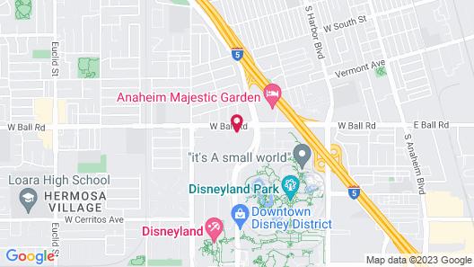 Anaheim Maingate Inn Map