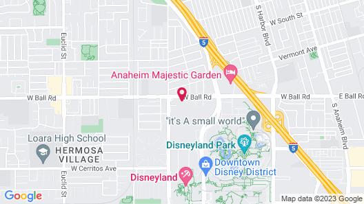 SpringHill Suites Anaheim Maingate Map