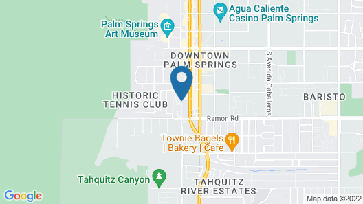 Avalon Hotel and Bungalows Palm Springs Map