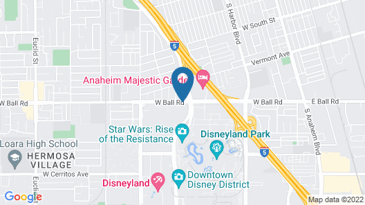 Staybridge Suites Anaheim At The Park Map