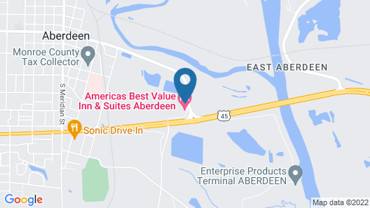 Americas Best Value Inn and Suites Aberdeen Map