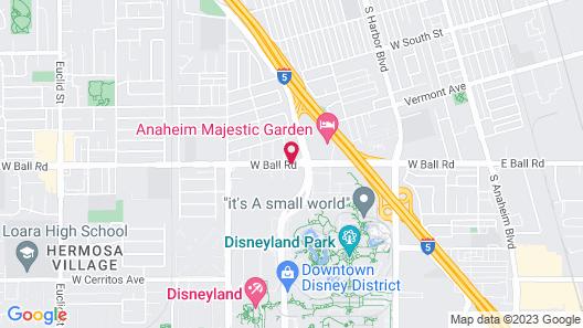 Travelodge Inn & Suites by Wyndham Anaheim on Disneyland Dr Map