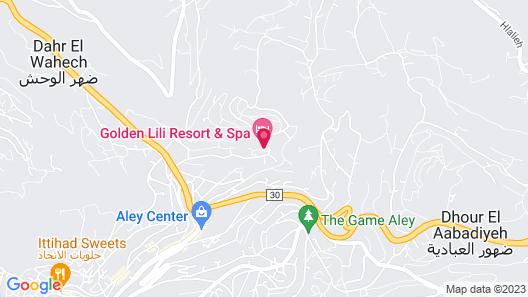 Golden Lili Resort & Spa Map