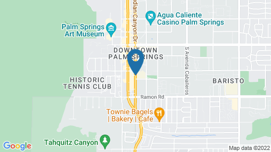 Quality Inn Palm Springs Downtown Map