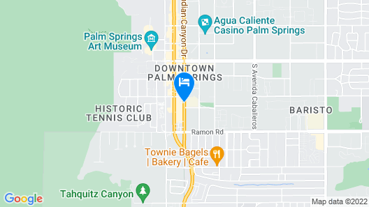 Quality Inn Palm Springs Downtown Map