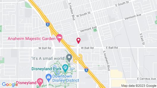 Days Inn & Suites by Wyndham Anaheim At Disneyland Park Map