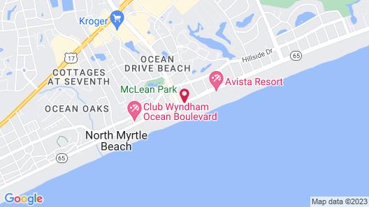 Ocean Drive Beach & Golf Resort Map