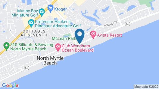 Ocean Drive Beach & Golf Resort Map