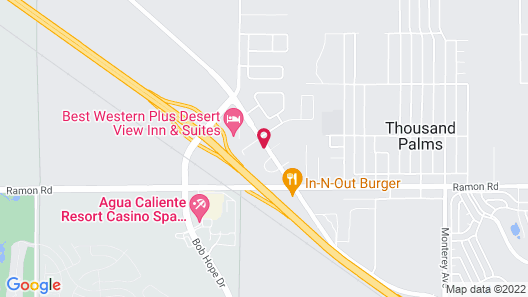 Motel 6 Thousand Palms, CA - Rancho Mirage Map