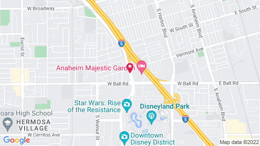 Super 8 by Wyndham Anaheim/Disneyland Drive Map
