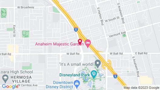 Anaheim Majestic Garden Hotel Map