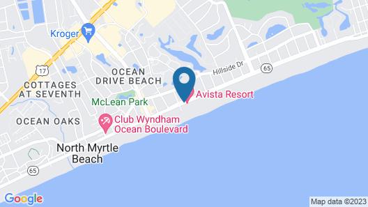 Units at Avista Resort by Elliott Beach Rentals Map