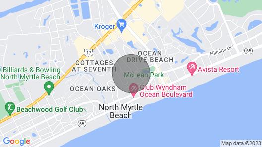 Pet-friendly Cottage, Short Walk to Beach, Fenced Yard, Half Block to Park & Main Street Map