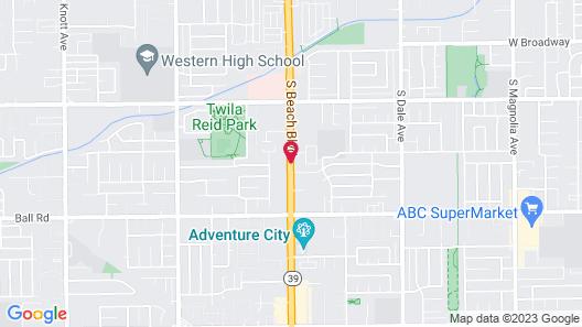 Days Inn by Wyndham Anaheim Near the Park Map