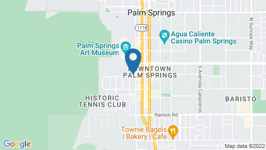 Holiday House Palm Springs Map