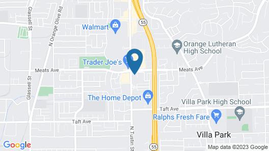 Orange Villa Park Motel Map