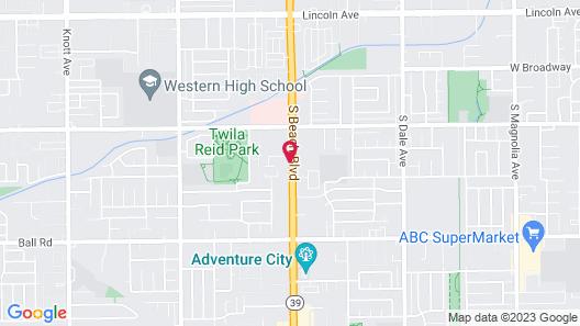 Motel 6 Anaheim, CA - Buena Park Map