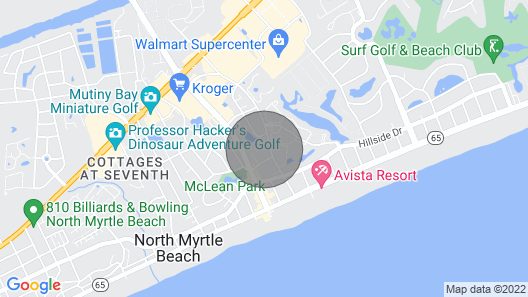 3 Bedroom, 2 Bath Condo. Sleeps 8. Short Walk to the Beach Map