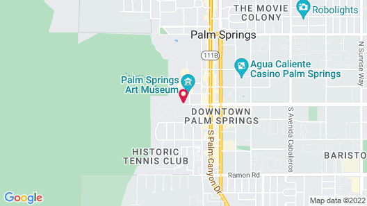 The Willows Historic Palm Springs Inn Map