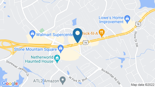 Comfort Inn & Suites at Stone Mountain Map