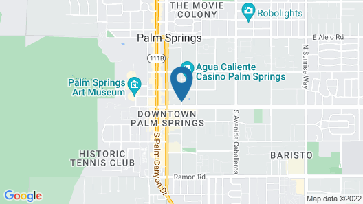 Hilton Palm Springs Resort Map