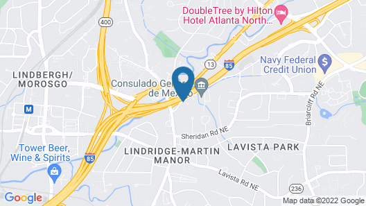 La Quinta Inn & Suites by Wyndham Atlanta Midtown - Buckhead Map