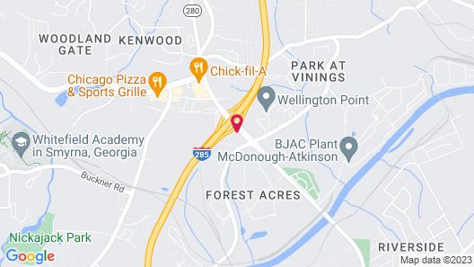 Motel 6 Smyrna, GA - Atlanta Map