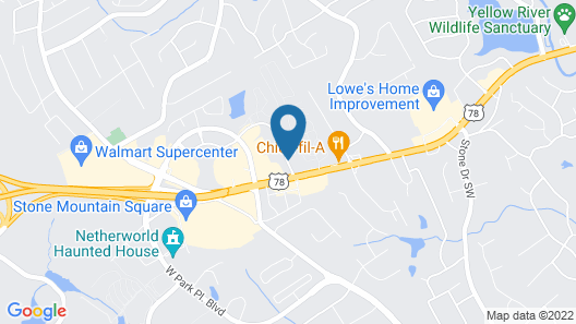 Days Inn by Wyndham Atlanta Stone Mountain Map