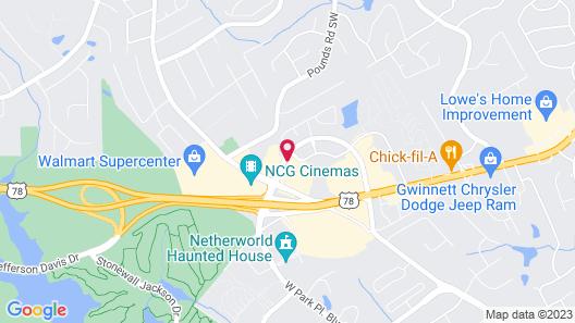 Holiday Inn Express Atlanta-Stone Mountain, an IHG Hotel Map