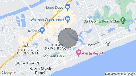 Ocean Keyes -1st Floor,6 Pools,2 Blocks off Beach/downtown Nmb, Private Comm Map