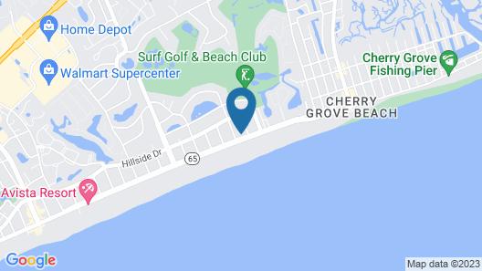Key West House- 2nd Row- Beach House-cherry Grove 6 Bedroom Home Map