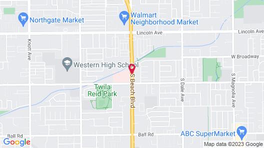 Pacific Inn Anaheim Map