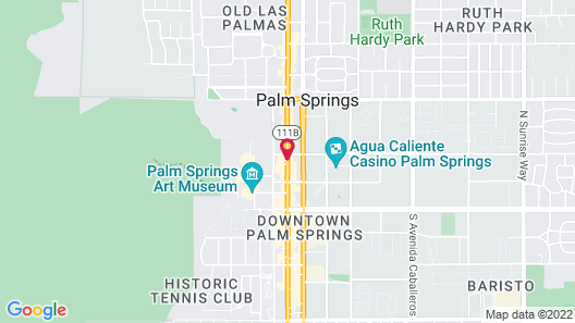 Hyatt Palm Springs Map