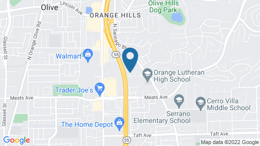 Anaheim Vacation Villa - 3 Bedroom House Near Disney Map
