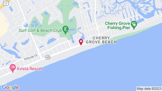 Ocean Club Resort Myrtle Beach a Ramada by Wyndham Map