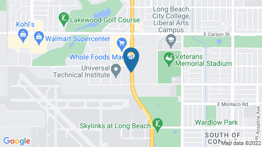 Homewood Suites by Hilton Long Beach Airport Map