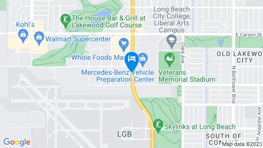 Hampton Inn Long Beach Airport Map