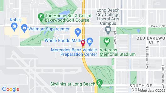 Courtyard by Marriott Long Beach Airport Map