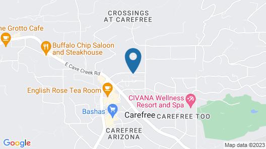 Tranquil Desert Getaway - 3 Br Townhouse Map