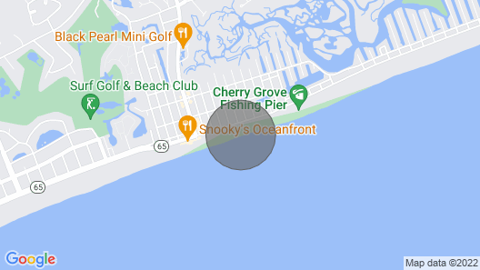 Oceanfront Pet Friendly House-cherry Grove, North Myrtle Beach Map